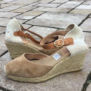 Kanna Suede Wedge Espadrille Sandals